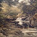 Rhiadr Ddu Near Maentwrog North Wales by John Glover
