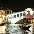 Rialto Bridge Night Scene by Vicki Hone Smith
