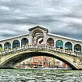 Rialto Bridge Over The Grand Canal Of Venice by Sarah E Ethridge