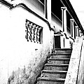 Richmond Stairs Bw Old Hostel by Joe Lategan