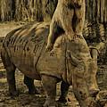 Riding Along- Rhino And Bear by Lourry Legarde