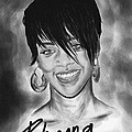 Rihanna Smiles by Kenal Louis