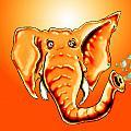 Ringo Party Animal Orange by Adam Vance