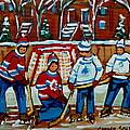 Rink Hockey Montreal Street Scenes by Carole Spandau