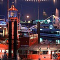 Rising Moon Over Lightship by Serge Fourletoff