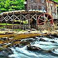 River Rock And A Grist Mill by Adam Jewell