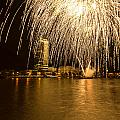 River Thames Fireworks by Dawn OConnor