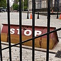 Road Blocker At New York City Hall. by Mark Williamson