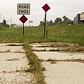 Road Ends Sign by Will & Deni McIntyre