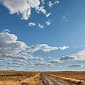 Road Near Ten Sleep Wyoming by Steve Gadomski