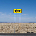Road Sign In The Desert by Dave & Les Jacobs