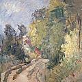 Road Turning Under Trees by Paul Cezanne