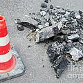 Roadworks - Asphalt And Pylon by Matthias Hauser