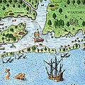 Roanoke Landing, 1585 by Granger