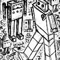 Robot Sketch 6 Of 6 by Roseanne Jones