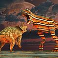 Robotic T. Rex & Triceratops Battle by Mark Stevenson