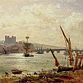 Rochester Cathedral And Castle by Frederick Nash