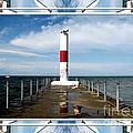 Rochester New York Harbor Lighthouse by Rose Santuci-Sofranko