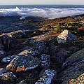 Rock And Fog by Rick Berk