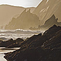 Rock And Waves Dingle Peninsular by Julian Easten