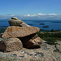 Rock Cairn On Cadillac Mountain by Quin Bond