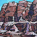Rock Face by Sandy Tracey