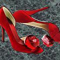 Rock Me Red Pom Poms by Elaine Plesser