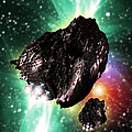 Rocket-controlled Asteroids by Victor Habbick Visions