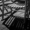 Rocking Chair Lit By The Afternoon Sun by Randall Nyhof