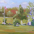 Rockport Ontario Pond Fountain by Robert P Hedden