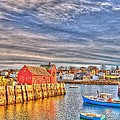 Rockport Water Color - Greeting Card by Mark Valentine