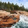 Rocky Maine Coastline. by John Greim
