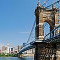 Roebling Bridge To Cincinnati by Stephen Whalen