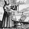 Roger Bacon Conducting An Experiment by Photo Researchers