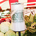 Roll Of Plastic Produce Bags In A Market by Jetta Productions, Inc