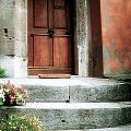 Roman Door And Steps Rome Italy by Mike Nellums