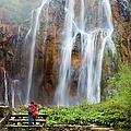 Romantic Scenery By The Waterfall by Artur Bogacki