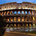 Rome Colosseum Dusk by Axiom Photographic