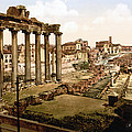 Rome, Ruins Of The Temple Of Saturn by Everett