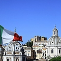 Rome Skyline With Italian Flag by Fafali.org