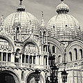 Roof And Facade Of St Mark Basilica  by George Oze