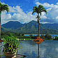 Rooftop Fountain In Paradise by Lynn Bauer