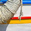 Rope And Boat Detail by Silvia Ganora