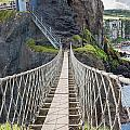 Rope Bridge At Carrick-a-rede In Northern Island by Semmick Photo