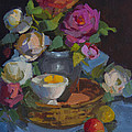 Roses And Basket by Diane McClary