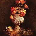 Roses In Urn by Jill Battaglia