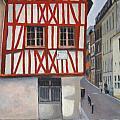 Rouen Street Corner by Alan Thomas