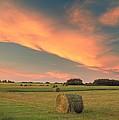 Round Hay Bales by Darwin Wiggett