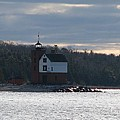 Round Island Lighthouse by Keith Stokes