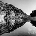 Round The Bend Buffalo River In Black And White by Joshua House